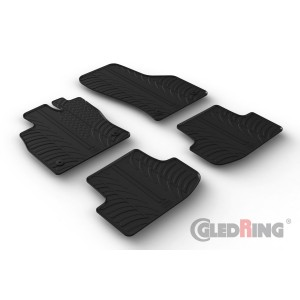 Rubber mats for Audi A3 (automatic & manual)