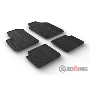 Rubber mats for Fiat 500