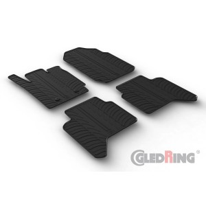 Rubber mats for Ford RANGER DOUBLE CABIN (for automatic only)