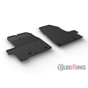 Rubber mats for Ford Tourneo Custom (manual)