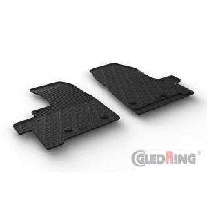 Rubber mats for Ford Transit Custom Furgon (automatic)