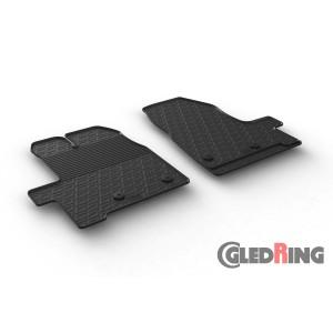 Rubber mats for Ford Transit Custom Furgon (manual)