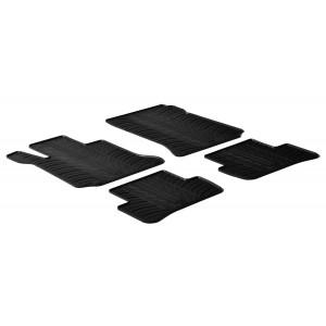 Rubber mats for Mercedes Serija C W204