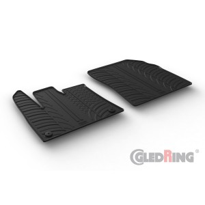 Rubber mats for Opel Combo Cargo (round fixing)