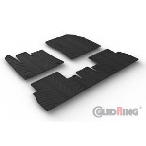 Rubber mats for Citroen Berlingo (oval fixing)