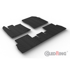 Rubber mats for Opel Combo (oval fixing)