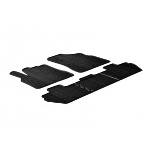 Rubber mats for Peugeot Rifter (round fixing)