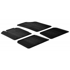 Rubber mats for Renault Clio II