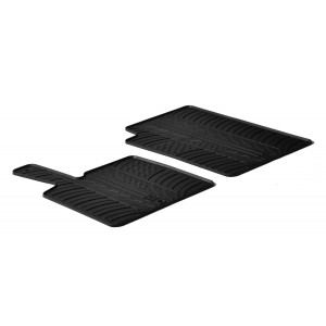 Rubber mats for Smart Fortwo